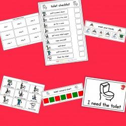 Toilet Visual Pack (boy) - Boardmaker / Autism / ADHD / ASD / PECS