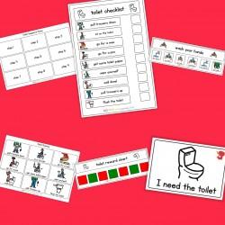 Toilet Visual Pack (girl) - Boardmaker / Autism / ADHD / ASD / PECS