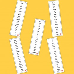 100 High Frequency Words (UK) - Autism / Dyslexia / ASD