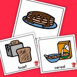 Breakfast Cards - Boardmaker / Autism / ADHD / ASD / PECS