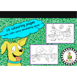 Vocabulary Building Colouring / Coloring Book - Intermediate