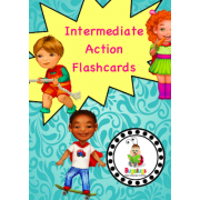 Action / Verb Learning Flashcard Package - Intermediate