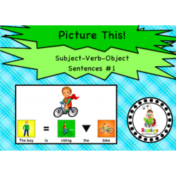 Subject Verb Object Visual Sentence Package 1