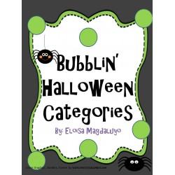 Bubblin' Halloween Categories
